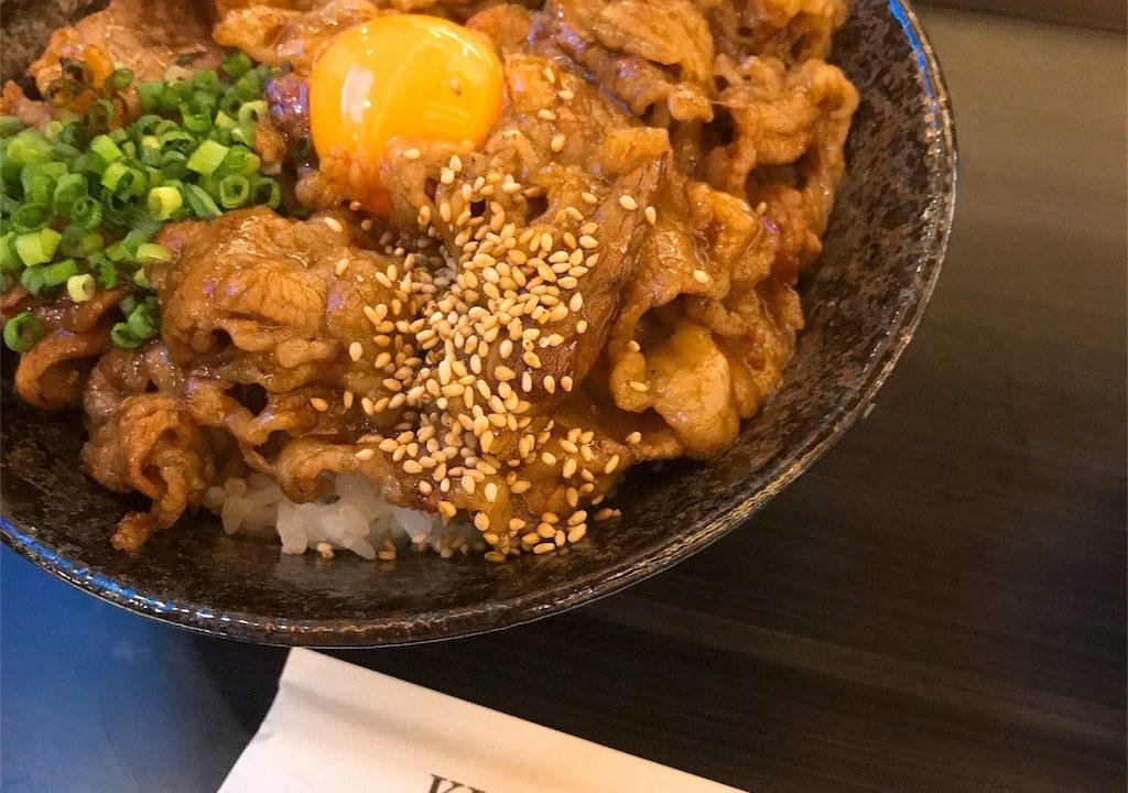キッチン徳寿のカルビ丼