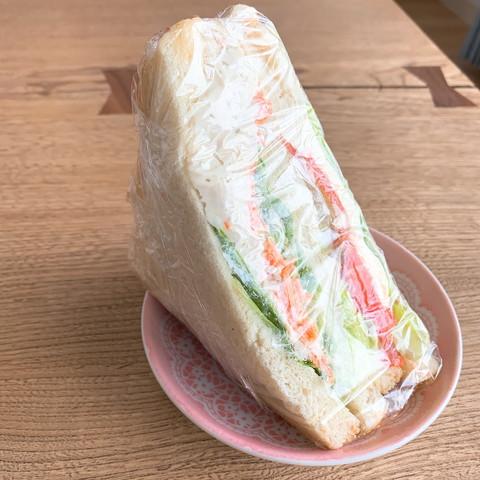 サーモン&柚子胡椒チキンサンドイッチ