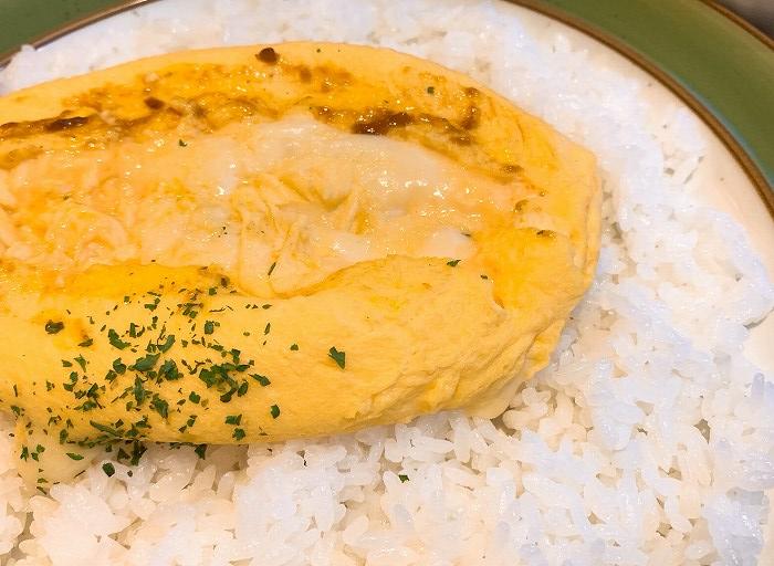 クロックのチーズオムレツカレー