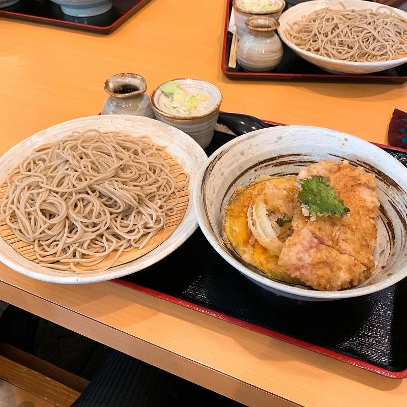 美幌の豚天丼・そばセット