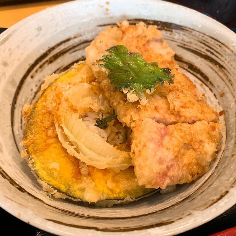 美幌の豚天丼