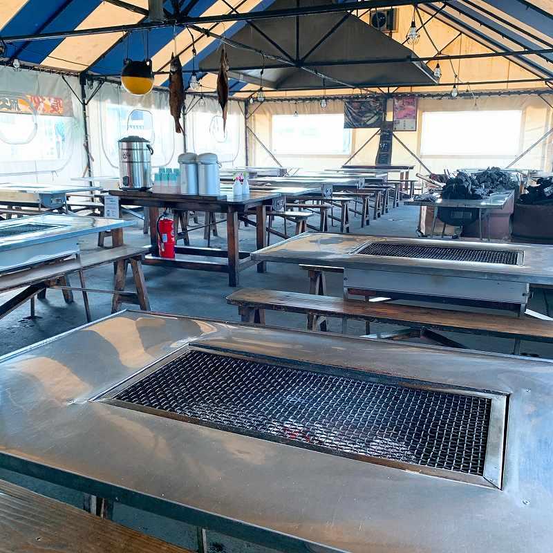鮭番屋の焼き場